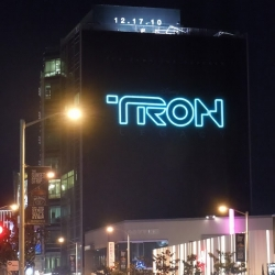 Really nice billboard for Disney's Tron Legacy spotted in L.A.'s Sunset Strip.