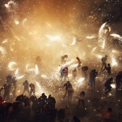 Amazing new photo series by Thomas Prior documenting the National Pyrotechnic Festival, in Tultepec, Mexico.