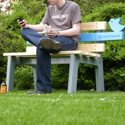 TweetingSeat by Chris McNicholl. The interactive park bench links physical and digital worlds by tweeting photos of its users and the environment in which it is placed.