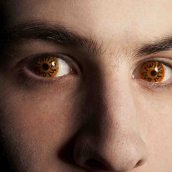 The Twilight DVD launches in the UK with an ad campaign 'Eye-verts'. Worn by striking male models who will hit the streets and give girls the eye, revealing details of the DVD painted onto Twilight-inspired gold contacts.