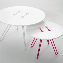 Twine Table is a series of tables inspired by one of mankind's most simple inventions: the button.
