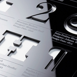 Type Tablet by Australian design studio Hofstede features individual characters from some of their favourite designers / typefaces.