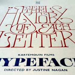 Letterpress poster by Daren Newman for the Manchester screening of Typeface.