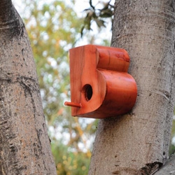 Designer Nishant Jethi created a whole alphabet of typographic bird houses 'Living with Typeface'.