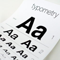 Typometry – a typographic eye chart that's perfect for serious type nerds.