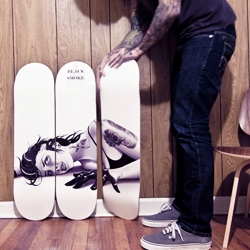 Menage a trois... Tyson McAdoo releases a seductive skateboard triptych.