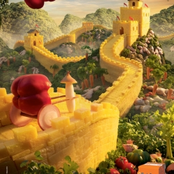 """""""Explore a whole new world this lunchtime"""" campaign for Uncle ben's by AMV BBDO, London"""