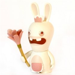 A must have for any Wii fanatic.   Mini-figurines of Raving Rabbids from Ubisoft. AARRRGGGGH!! [Editor's Note - i NEED these. and they go GAAAAAAAHHHHHHHH]