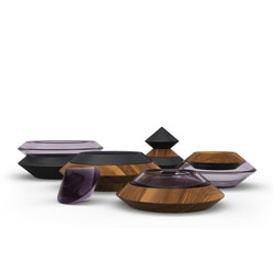 Undefined Function/Object, complementary tabletop pieces, offering virtually infinite variations and combinations, while striking a balance between functional and aesthetic values from UF/O.