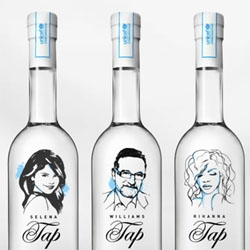 Great packaging for the UNICEF Celebrity Tap Project.