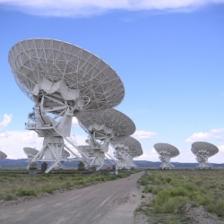 A whistle stop tour of some of the most spectacular radio telescopes in the world. On almost all of the continents these giants command the landscape as they survey the skies.