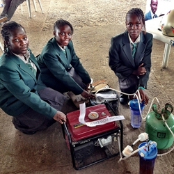 This year at Maker Faire Africa in Lagos four girls built a urine powered generator that uses 1 liter of urine to produce 6 hours of electricity.