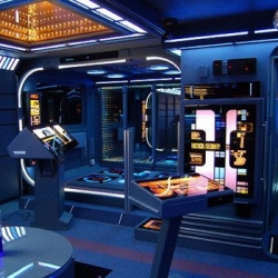 After his wife left him, Tony Alleyne set out to create the ultimate bachelor pad, painstakingly turning his flat in Hinckley, Leicestershire into a Star Trek set.