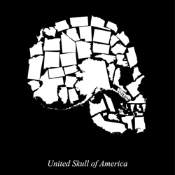 Limited edition silkscreen poster of the United Skull of America, featuring all 50 states at correct relative sizes to one another.