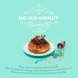 Introducing the HO-HO-HONUT, the best bits of a Christmas dinner in a doughnut.