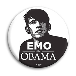 Emo for Obama - i couldn't help laughing when i saw this latest obama inspired design from Democratic Stuff.