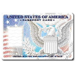 Passport Card ~ applications start tomorrow, and are your new RFID tagged mini passports for LAND AND SEA travel only at land and sea ports-of-entry when arriving from Canada, Mexico, the Caribbean and Bermuda