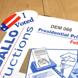 To those in Super Tuesday States ~ go vote! And to every voter... take pictures!!! And contribute to the Polling Place Photo Project - by Design Observer, AIGA, and the NY Times.