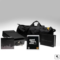 Pretty nice GTA IV special edition bundle. Would've liked to see some more thought put into the actual game disc's box though.