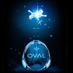 "Oval Vodka. According to the company is the very first ""Structured"" vodka, where the normally separate  elements of water and alcohol have been fused  into a single body..."