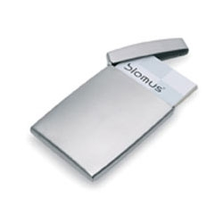 The Gents Business Card Case by Blomus is a contemporary business accessory. It has a classy appearance and will look impressive every time you offer out your card.