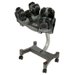 Bowflex has SelectTech weights where you can basically dial a weight... interesting concept/design