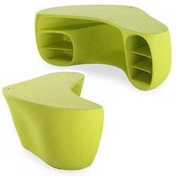 Designed by Philippe Starck for Vitra, the BaObab desk is so bright and cheerful, it could cheer up any office space.