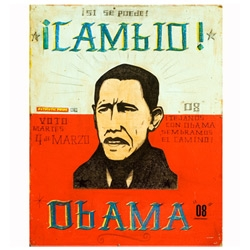 More art coming out in support for Obama ~ this time Upper Playground and the Date Farmers created a campaign poster to be mass-distributed on offset posters throughout Texas... and limited editions for sale.