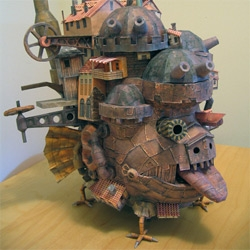 Papercraft Howl's Moving Castle.  + various links to other sites to helping to stretch your papercraft bone.