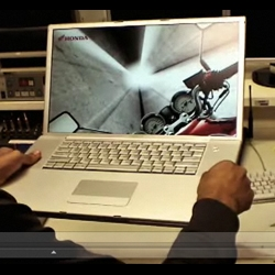 Interactive game for Honda Motorcycles using Sudden Motion Sensor on Macbooks. Currently only the VIDEO is out, but the beta is soon be released