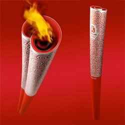 Lenovo, a Chinese based computer company, designed the 2008 Beijing Olympics torch.
