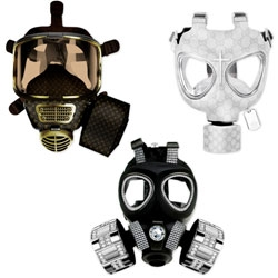 Designer Diddo Velema produced some high-fashion gas masks. Pretty awesome. [Editor's Note: these are not associated in any way with any luxury brands, etc]