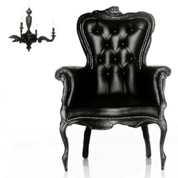 The Smoke Chair by Moooi - a classic set aflame and refinished in lacquer and leather for a contemporary edge.