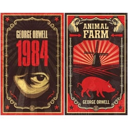 Shepard Fairey redesigns covers for the classics - Animal Farm and 1984 - for Penguin!