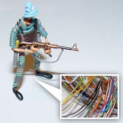 Recycle that CAT-5 by making some really cool soldiers and weapons... impressive collection they've created here!