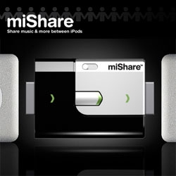 miShare is a smart little handheld gadget for connecting iPods and sharing files.