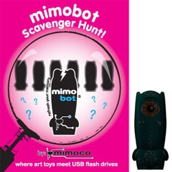 Mimoco is announcing Core Series 2 ~ with nine new mimobots... and you can discover them through their scavenger hunt this week... and the first one is announced at NOTCOT! (click to learn how to win)