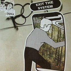 Sputnikk did this piece in Bolzano, Italy. EXIT THE SYSTEM!