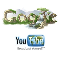 Happy earth day in logos - a la google and youtube