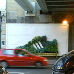 "Adidas has a great urban ""green"" billboard ad"