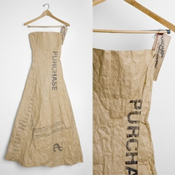 Working with paper and much more! A dress by Heidi Elizabeth Rodriguez