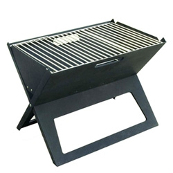 Direct Designs's Notebook Portable Grill is finally available in the USA, after being blogged to death last year! Fold Flat grill at an under $50 price tag.