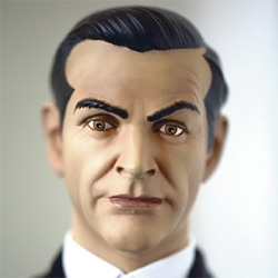 Allessandro Cidda ~ close up portraits of action figures...  Fenomeni Galleria Uno ~ here's bond.