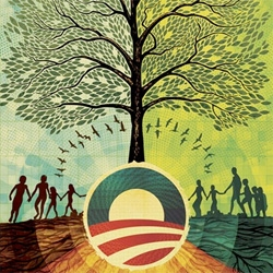 """PROGRESS"" by Scott Hansen (aka 1so50) - Artists For Obama."