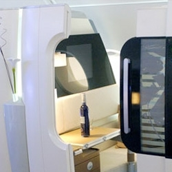 View the Airbus A380 movie. The lighting and interior cabin design is excellent.