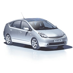 Prius ~ to add solar panels on the roof to power the A/C? If that comes true, i might need one... now if only they work in a way to gorgeously camouflage it under black gloss?