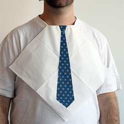 Protect your best tee and look good as you stuff your face with the help of a Dress For Dinner Napkin