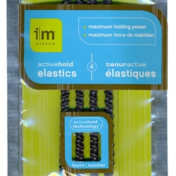 Great packaging, and innovative twist to hair elastics for the active - and by a business unit of Rubbermaid! i|m active