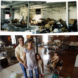 inspiring article of a designer/artist couple who moved to NY and turned a sketchy warehouse space into a gorgeous loft home.