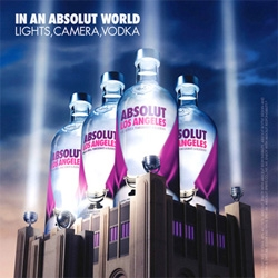 Finally ~ Absolut Los Angeles - it's an Acai, Acerola, Pomegranate, and Blueberry mix of flavors to represent our city...